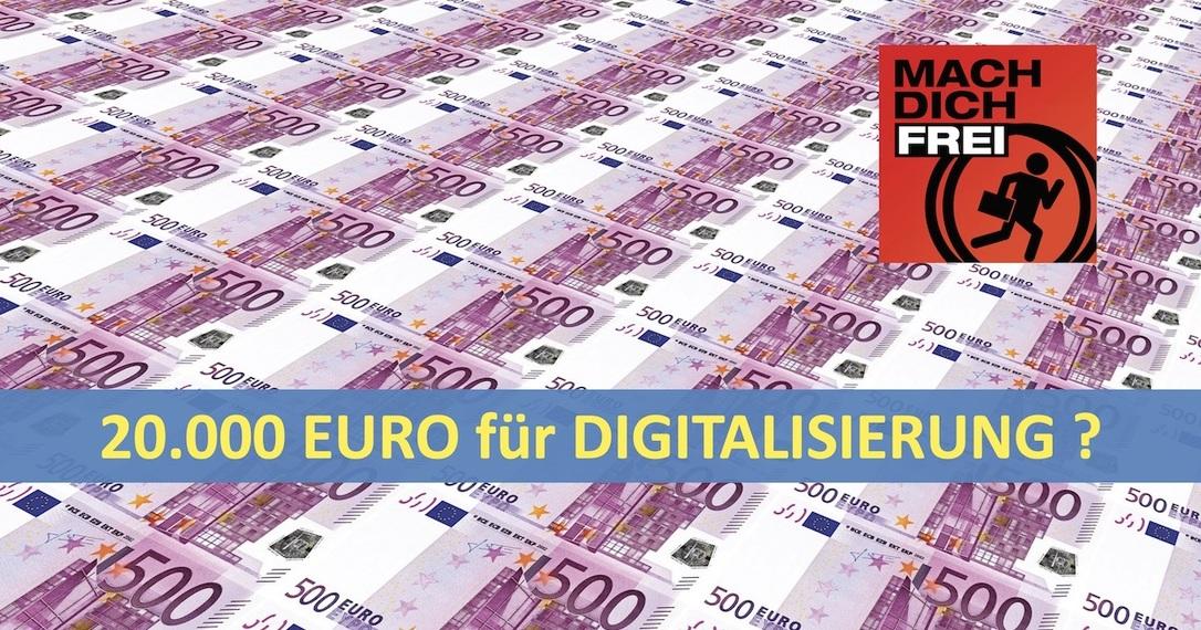 20000 Euro für Digitalisierung