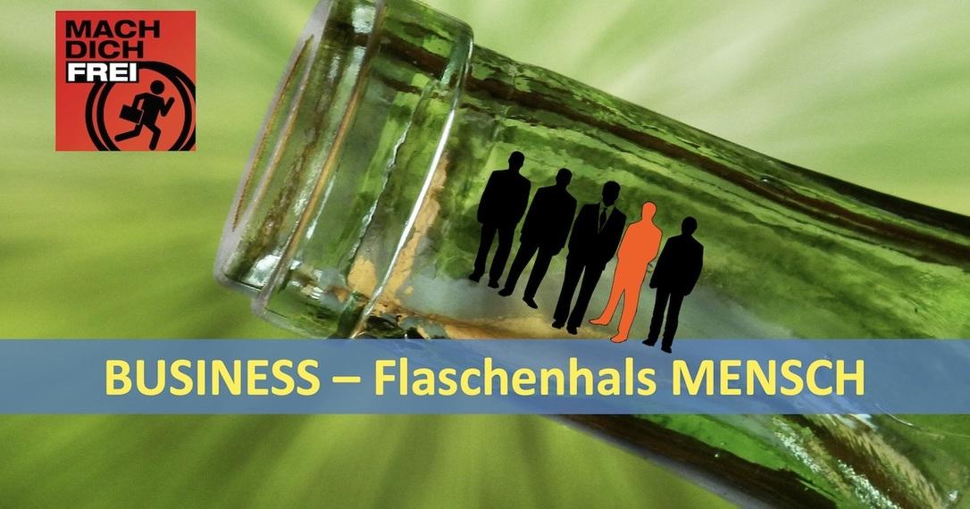 Business Flaschenhals Mensch